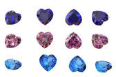 Heart shaped Diamonds — Stock Photo