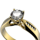 Wedding diamond Ring — 图库照片