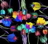 抽象花背景 — 图库照片