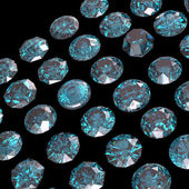 Set of blue diamonds. — Stock Photo