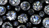 Set of round diamonds — Stock Photo