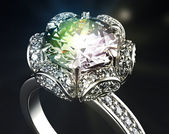 Anello con diamante — Foto Stock