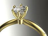 Anillo con diamante — Foto de Stock