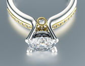 Ring with diamond — Stock Photo