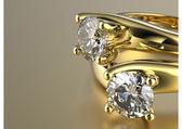 Rings with diamond — Stock Photo