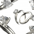Rings with diamonds — Stock Photo #51509905