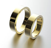 Gouden trouwringen — Stockfoto