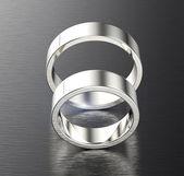 Silver wedding Rings — Stockfoto