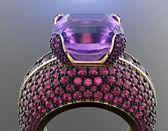 Anel com diamante — Foto Stock
