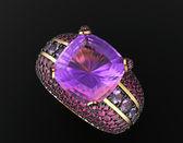 Ring met diamant — Stockfoto
