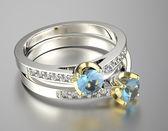 Rings with diamonds — Stock Photo