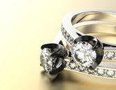 Anéis com diamantes — Foto Stock