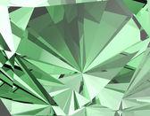 Smaragd grün facet-hintergrund — Stockfoto
