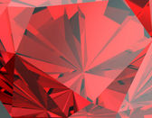 Red Facet  Ruby Background — Zdjęcie stockowe