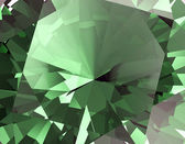 Green Facet Emerald Background — Stock Photo