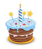 Pastel de cumpleaños — Vector de stock