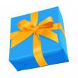 Stock Vector: Blue Gift Box