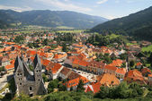 Panorama of old town in Austria — Stock Photo