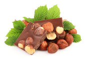 Chocolate with nuts — Stock Photo