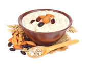 Porridge with nuts — Stock Photo