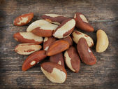 Bertholletia.Brazil nuts — Stock Photo