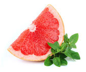 Grapefruit with mint — Stockfoto