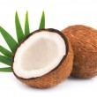Coconuts with leaves — Stock Photo #14814141