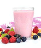 Fresh smoothies with berries — Stock Photo