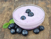 Blueberry yogurt — Stock Photo