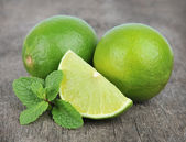 Lime with mint — Stok fotoğraf
