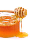Honey dripping — Stock Photo