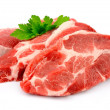 Pieces of crude meat — Stock Photo