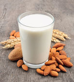 Almond milk — Stock Photo
