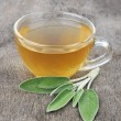 Sage leaves and sage tea — Stockfoto