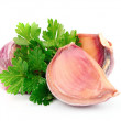 Parsley and garlic — Stock Photo