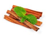 Cinnamon with mint — Stock Photo
