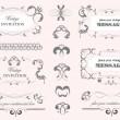 Vector decorative design elements. — Stock Vector