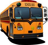 Yellow school bus. Vector illustration — Stock Vector