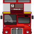 Stock Vector: London double Decker red bus. Vector illustration