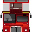 London double Decker  red bus. Vector illustration - Stock Vector