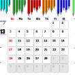 2013 calendar with place for every day notes. Can be used as org — Stock Vector