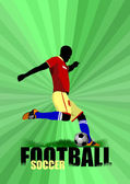 Poster Soccer football player. Colored Vector illustration — Stock Vector