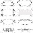 Stok Vektör: Collection of ornate vector frames