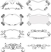 Collection of ornate vector frames — Stock Vector
