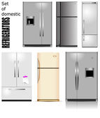 Big set of Domestic refrigerators. Vector illustration — Stock Vector