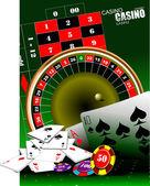 Casino elements. Vector illustration — Stock Vector