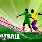 Football (soccer) poster — Stock Vector