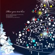 Abstract Christmas background with star snowflakes. Vector illus - Stock Vector