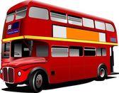 Autobus de londres de rouge double decker. illustration vectorielle — Vecteur