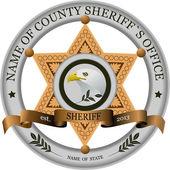 Sheriff`s badge — Stock Vector
